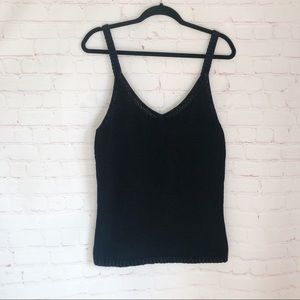 [GAP] black v-neck sweater tank top XL